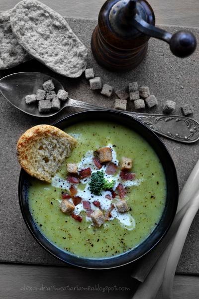 Supă cremă de cartofi şi broccoli