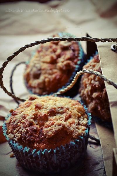 Muffin cu lămâie, scorțișoară și nelipsitul măr