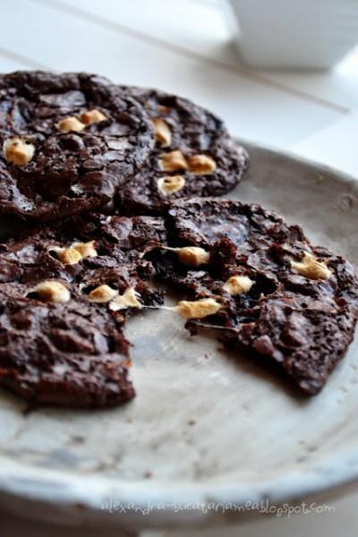 Biscuiti de bezea cu bezea – rocky road cookies