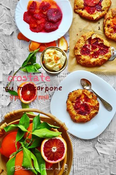 Crostate cu mascarpone si portocale rosii