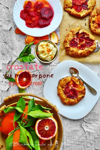 (Română) Crostate cu mascarpone si portocale rosii