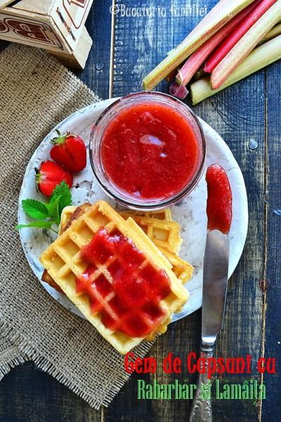 Strawberry Rhubarb Lemon Verbena Jam