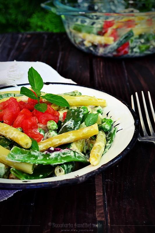 salata de fasole cu mazare
