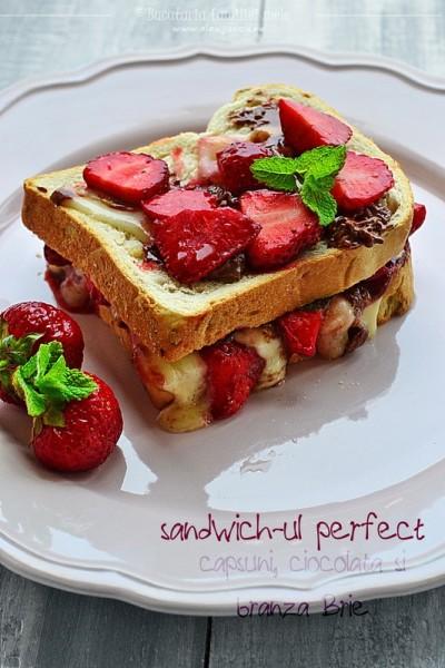 sandwich-ul perfect: capsuni, ciocolata si branza Brie