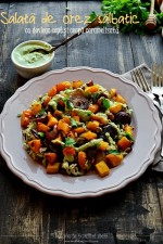 Roasted pumpkin & onion Wild Rice Salad