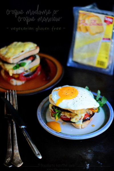 croque monsieur or croque madame- vegetarian si gluten free