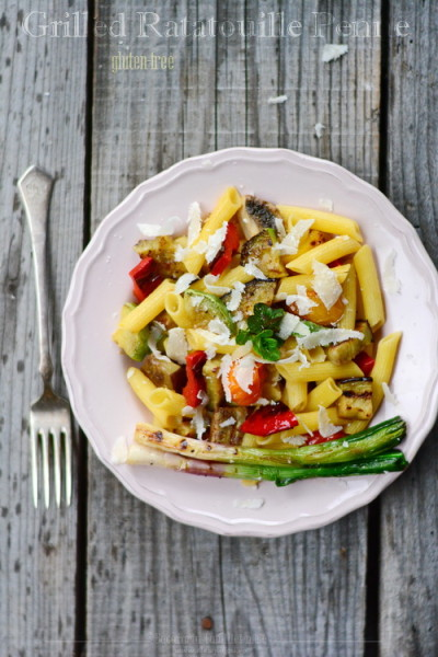 Grilled Ratatouille Penne – gluten free