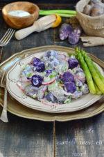 salata de cartofi mov. cu iaurt