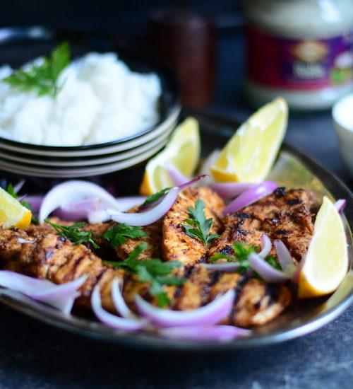 Pui Tandoori dar la grătar / Grilled Tandoori Chicken