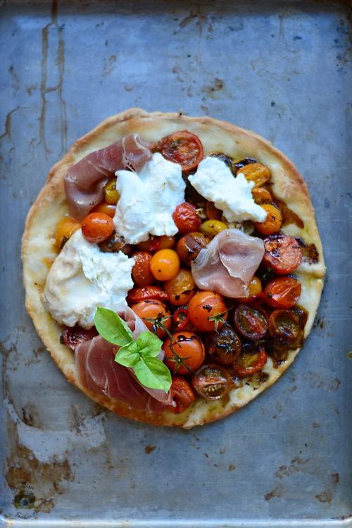 pizza cu burrata