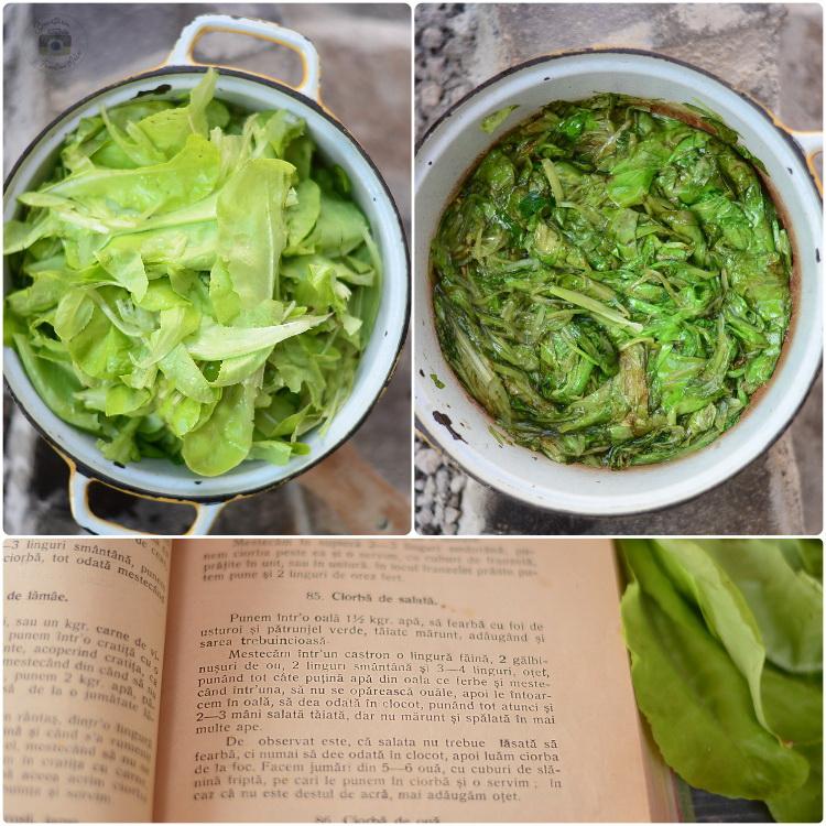 Ciorba de salata verde/ zama de salată verde/ zamă de șalate